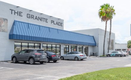 front entrance of The Granite Place showroom